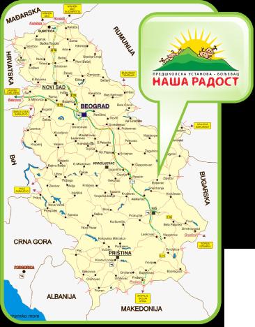 boljevac mapa Predškolska ustanova